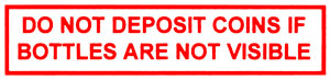 DP16R  Do Not Deposit Coin