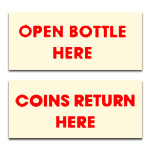 DP5R  Bottle Opener/Coin Return