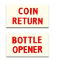 DP3R  Bottle Opener/Coin Return